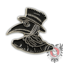 Black Plague Doctor Pin