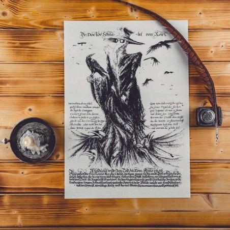 Medico della peste con poemetto satirico in distici ottosillabici rimati risalente al XVII secolo