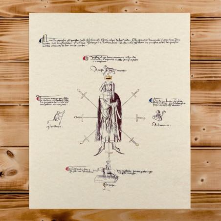 copy of Medico della peste con poemetto satirico in distici ottosillabici rimati risalente al XVII secolo